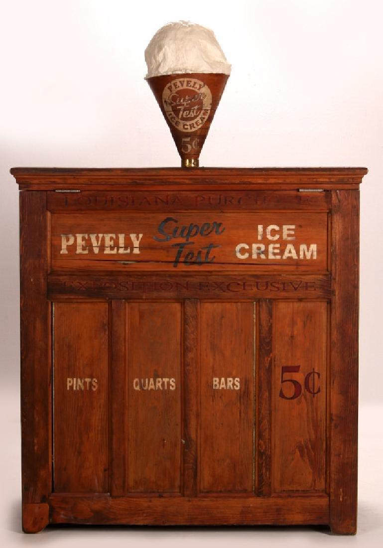PEVELY ICE CREAM WORLD'S FAIR ICE CREAM FREEZER - 15