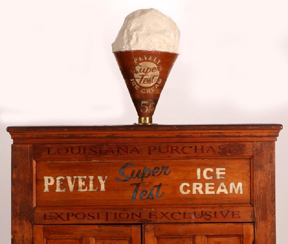 PEVELY ICE CREAM WORLD'S FAIR ICE CREAM FREEZER - 2