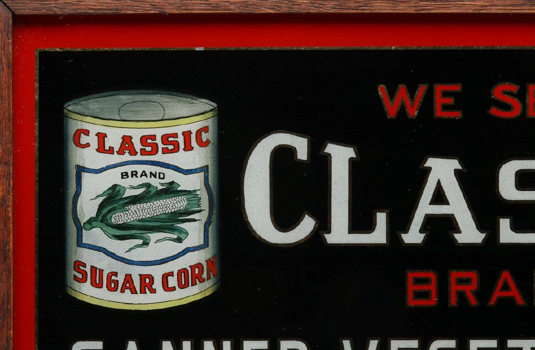CLASSIC' BRAND VEGETABLES REVERSE PAINTED SIGN - 3