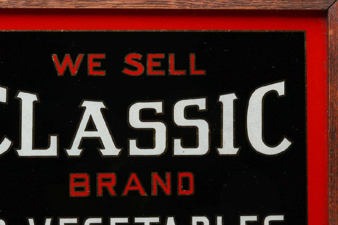 CLASSIC' BRAND VEGETABLES REVERSE PAINTED SIGN - 4