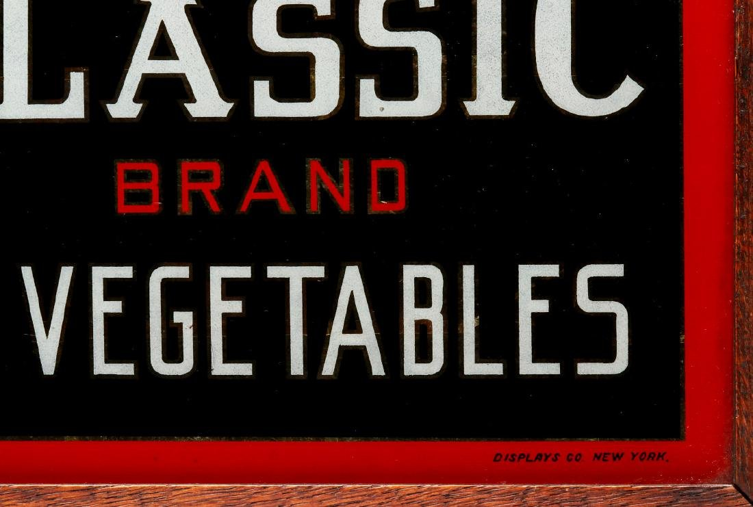 CLASSIC' BRAND VEGETABLES REVERSE PAINTED SIGN - 5