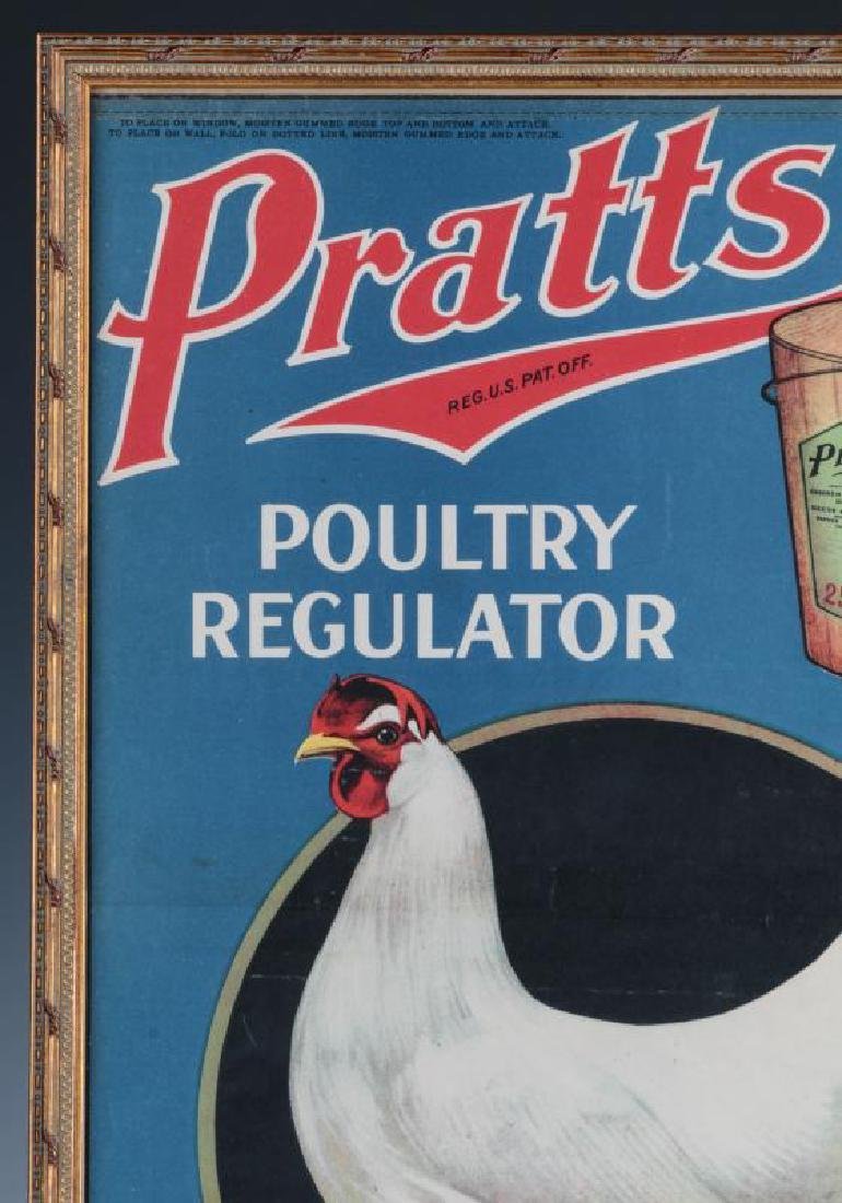 A RARE PRATTS POULTRY REGULATOR PAPER ADVTG POSTER - 3