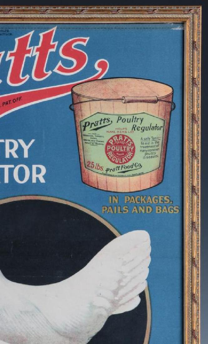 A RARE PRATTS POULTRY REGULATOR PAPER ADVTG POSTER - 4