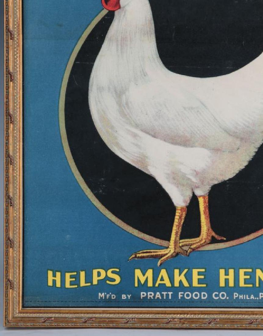 A RARE PRATTS POULTRY REGULATOR PAPER ADVTG POSTER - 6
