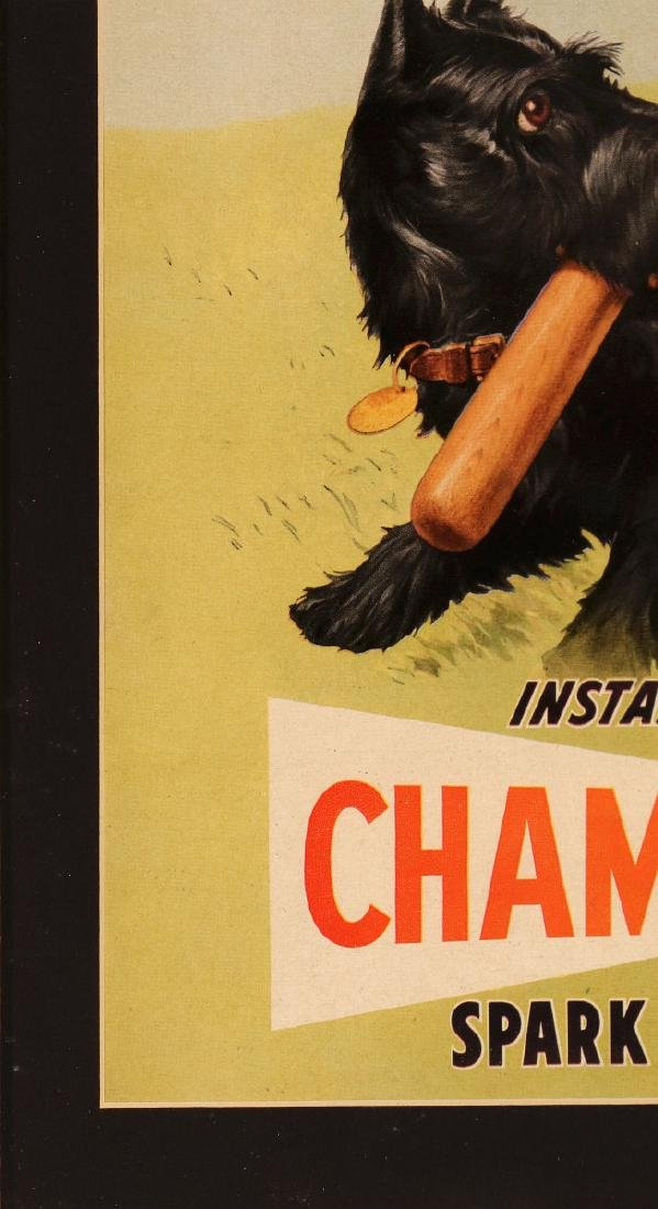 CHAMPION SPARK PLUGS PAPER POSTER WITH SCOTTIE - 5