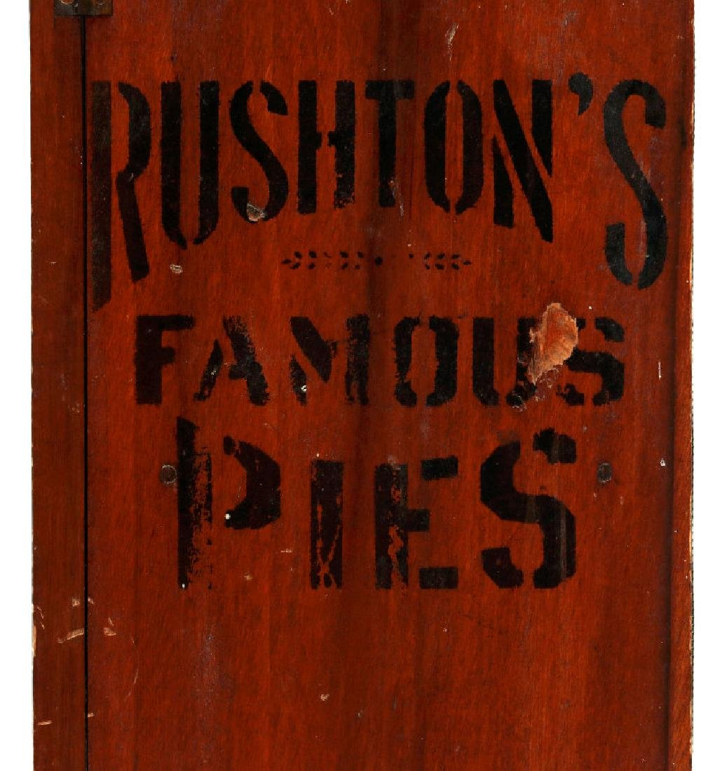 A PAINTED WOOD COUNTERTOP PIE SAFE FOR RUSHTON'S - 4
