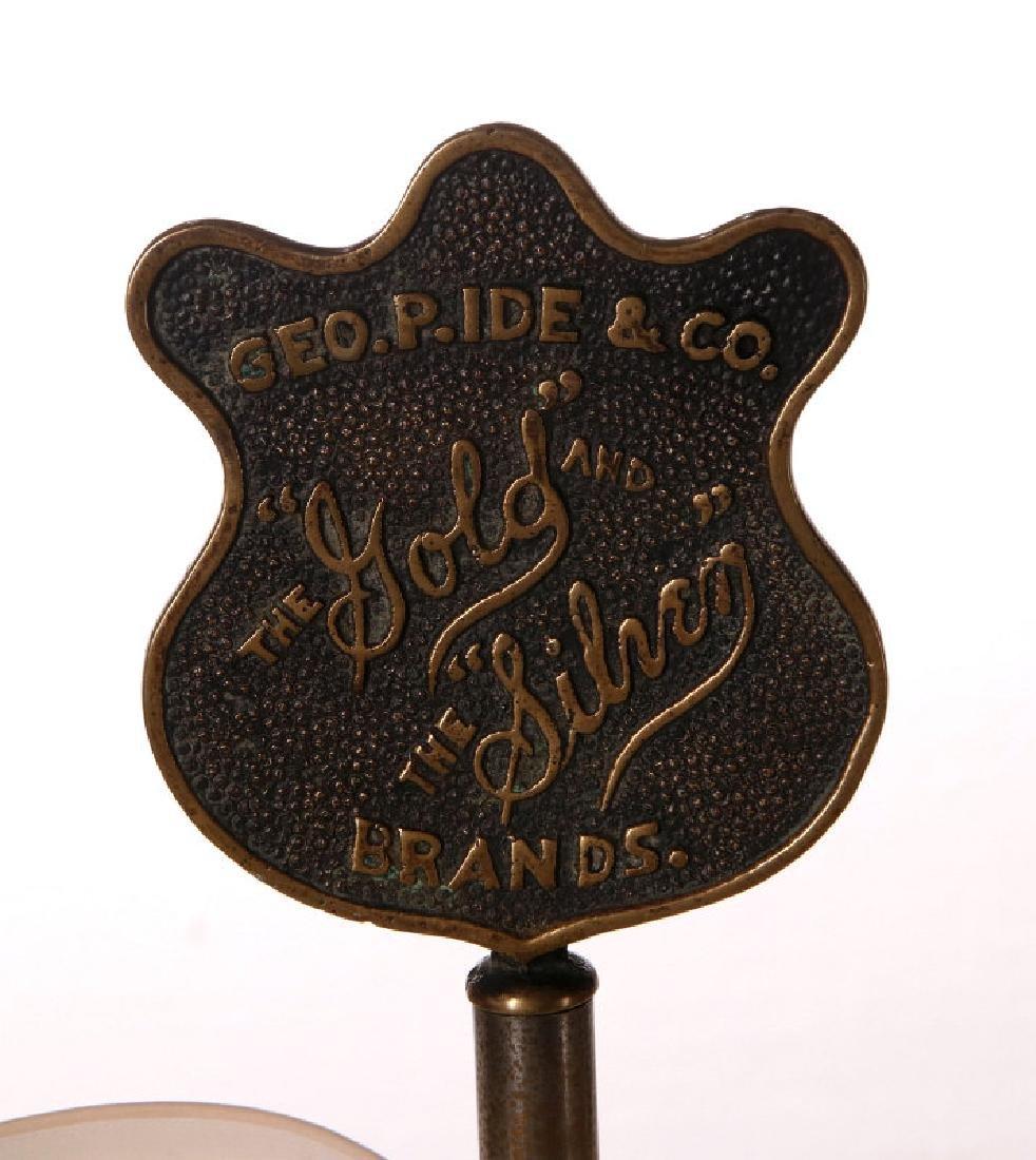 A 1900s HEAVY BRASS SHIRT COLLARS STORE DISPLAY - 2