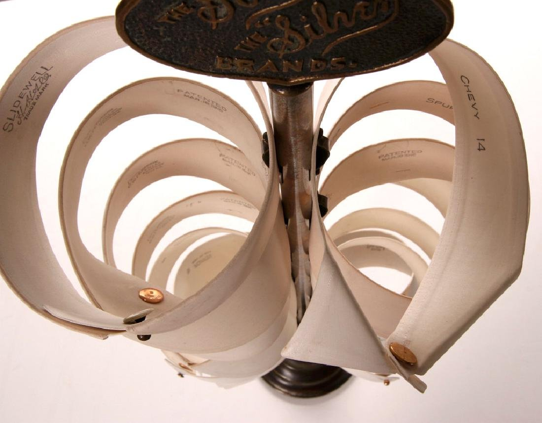 A 1900s HEAVY BRASS SHIRT COLLARS STORE DISPLAY - 3
