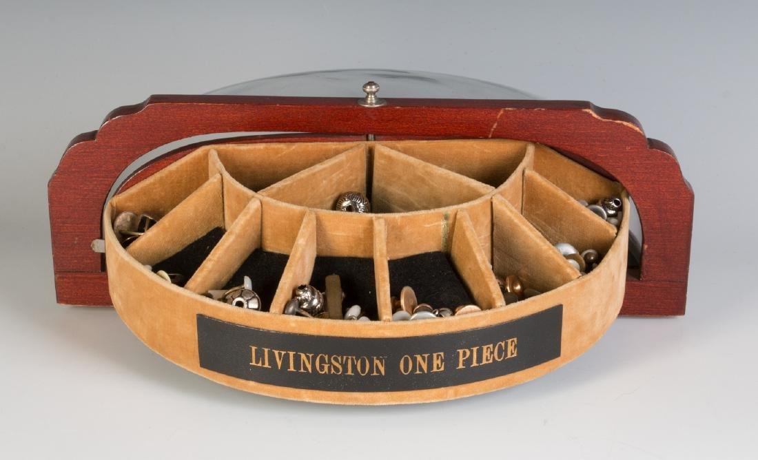 AN ART DECO CUFFLINK DISPLAY CASE FOR LIVINGSTON - 4
