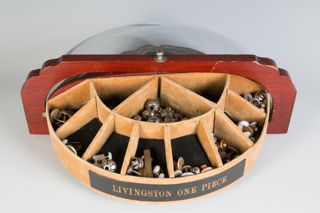 AN ART DECO CUFFLINK DISPLAY CASE FOR LIVINGSTON - 5