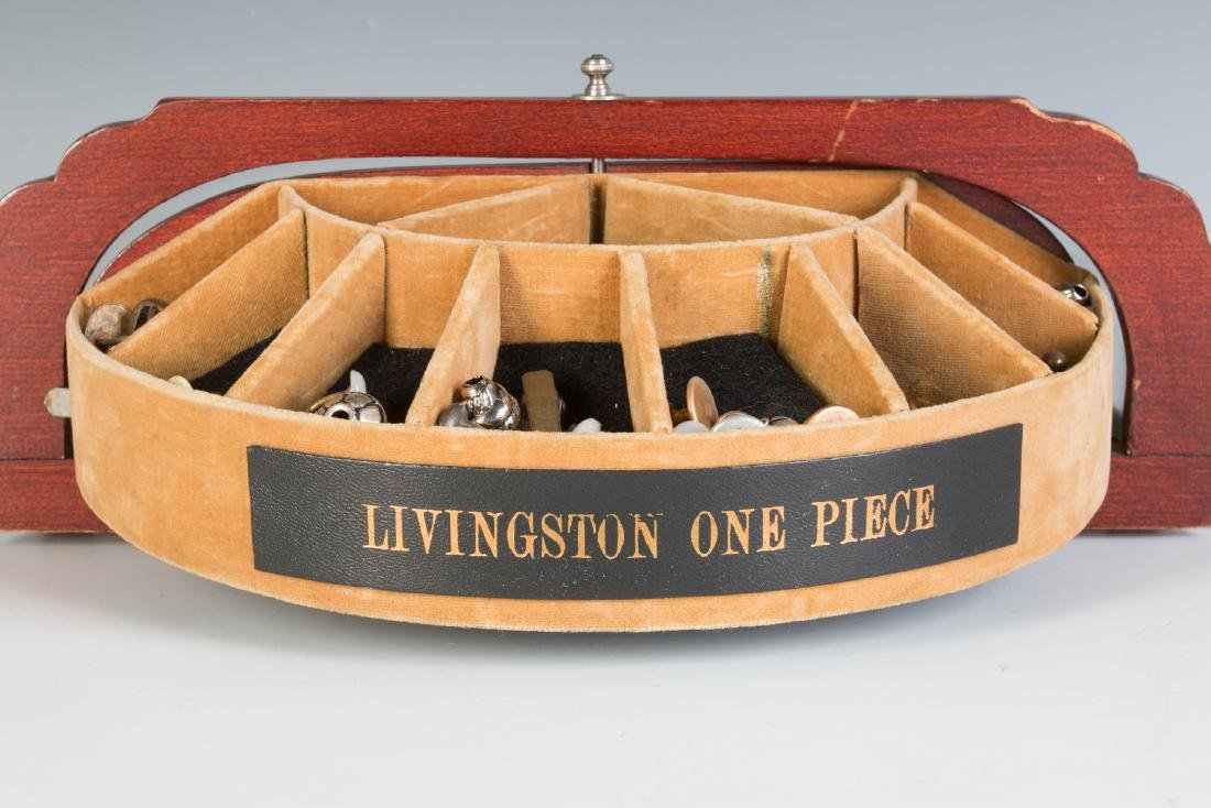 AN ART DECO CUFFLINK DISPLAY CASE FOR LIVINGSTON - 6