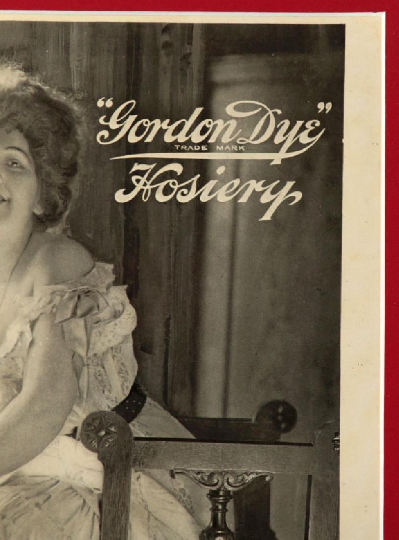 A 1904 PAPER POSTER FOR GORDON DYE HOSIERY - 4