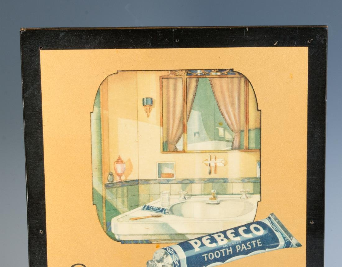 A PEBECO TOOTHPASTE ADVERTISING SIGN CIRCA 1920s - 2