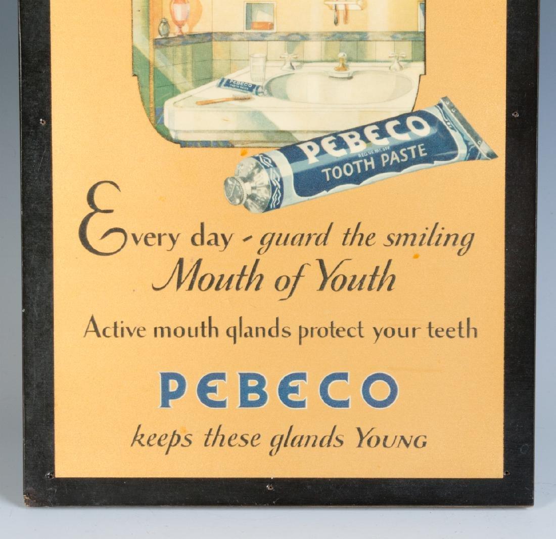 A PEBECO TOOTHPASTE ADVERTISING SIGN CIRCA 1920s - 3