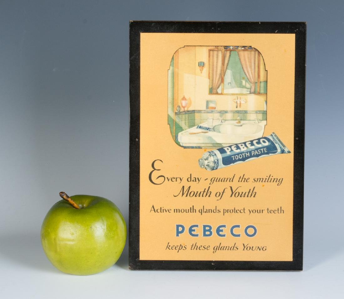 A PEBECO TOOTHPASTE ADVERTISING SIGN CIRCA 1920s - 4