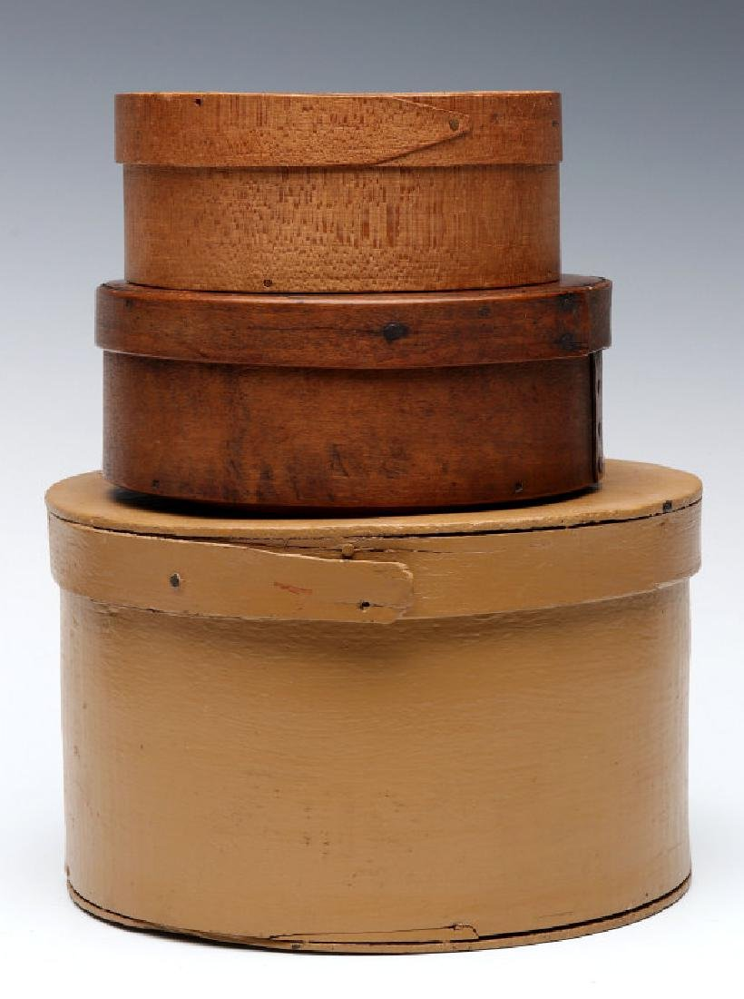THREE GOOD LATE 19TH CENTURY BENTWOOD PANTRY BOXES
