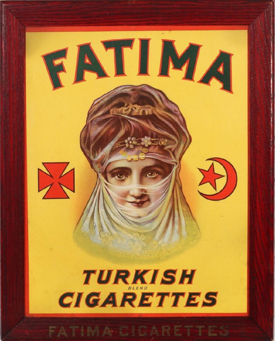 FATIMA TURKISH CIGARETTES POSTER IN ORIGINAL FRAME