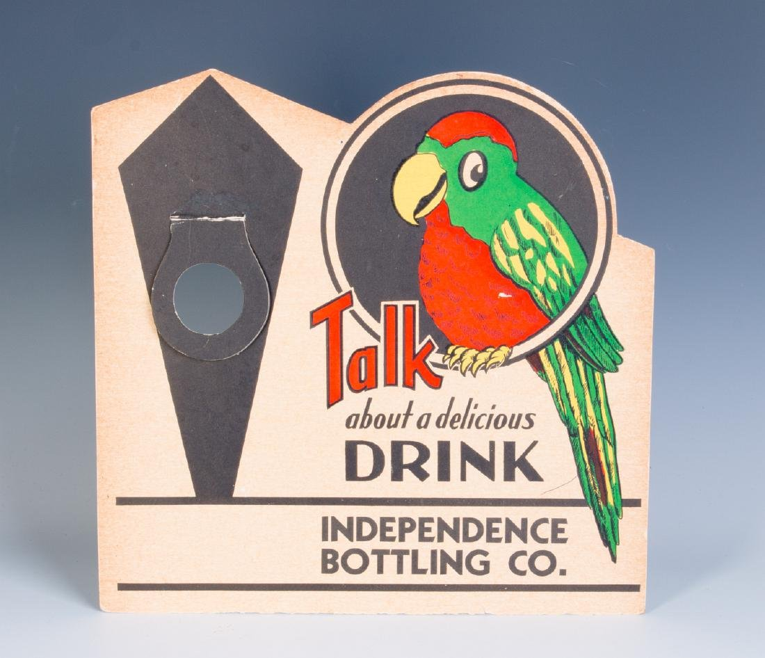 A RARE 'POLLY POP' SODA POP BOTTLE DISPLAY C. 1935