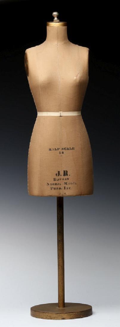 BAUMAN HALF SCALE TABLETOP DRESS FORM MODEL