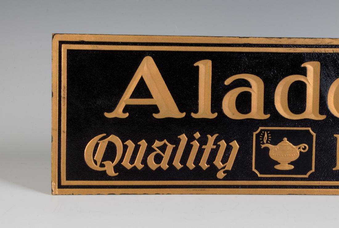 VINTAGE EASEL BACK SIGN FOR ALADDIN QUALITY LAMPS - 2