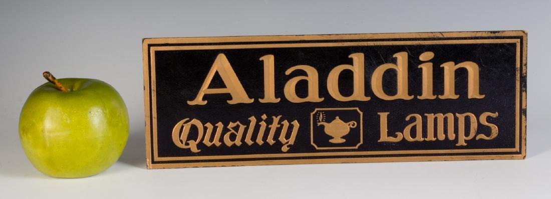 VINTAGE EASEL BACK SIGN FOR ALADDIN QUALITY LAMPS - 5