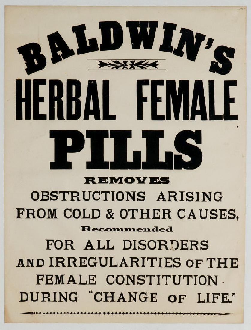 THREE PAPER BROADSIDE ADVERTISEMENTS FOR BALDWIN'S