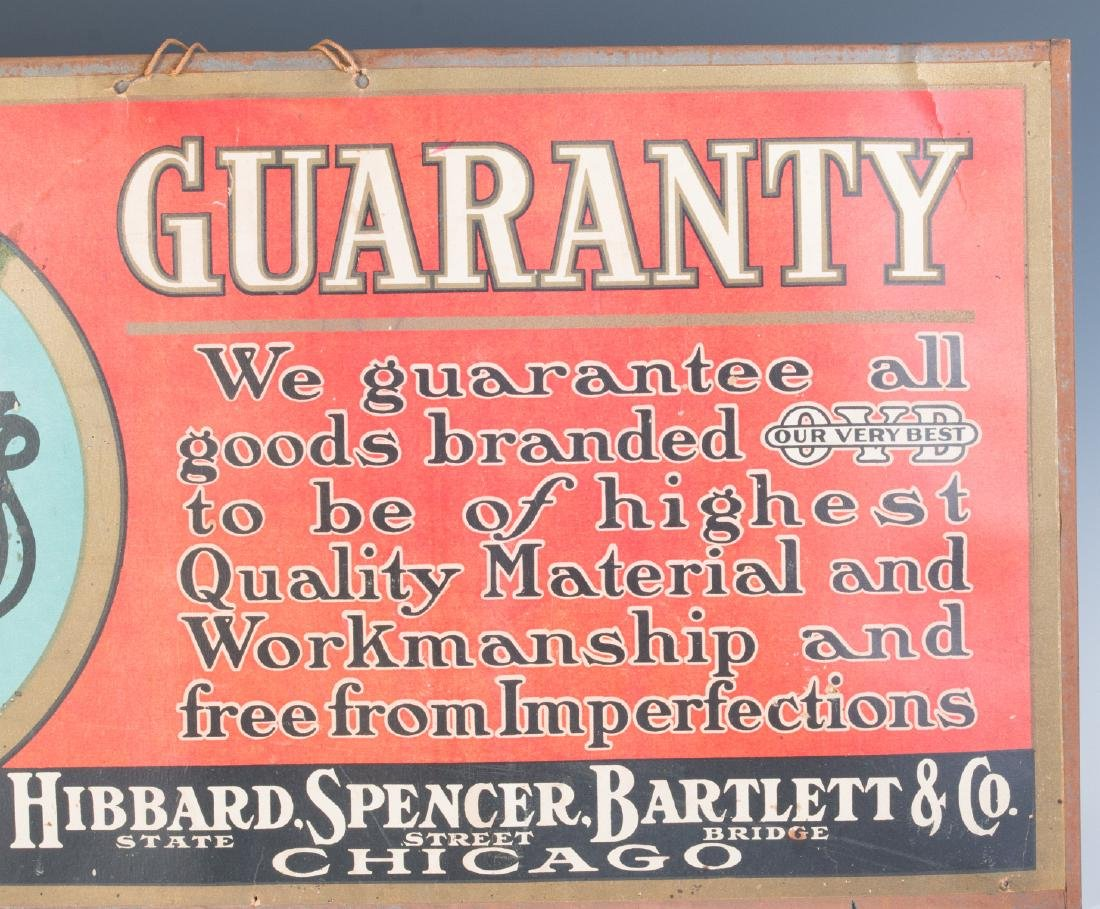 HIBBARD SPENCER BARTLETT SELF-FRAMED SIGN - 3