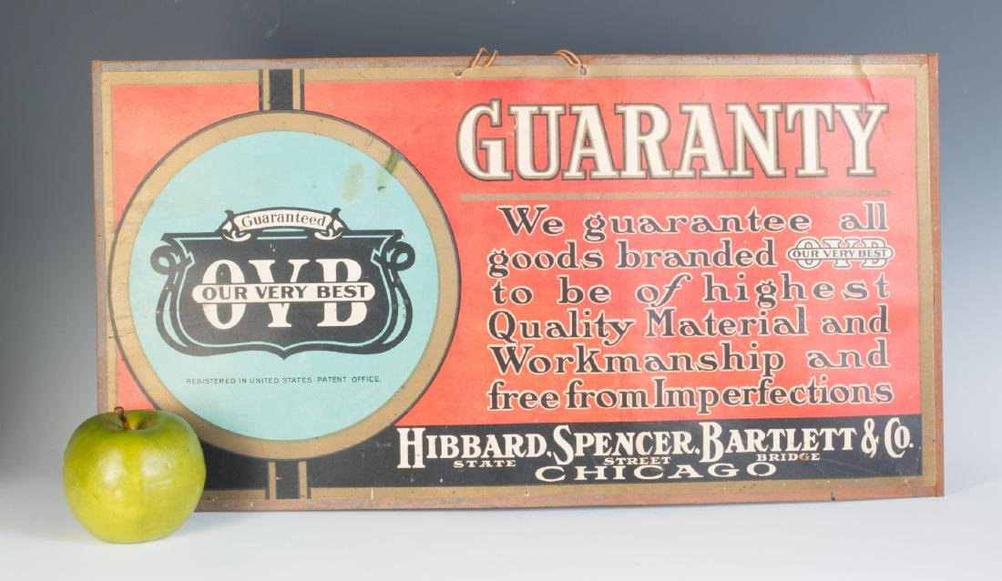 HIBBARD SPENCER BARTLETT SELF-FRAMED SIGN - 5