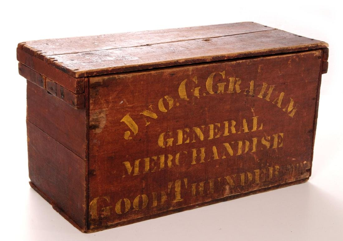 A PERFECTION BAKING POWDER MERCHANT'S CRATE