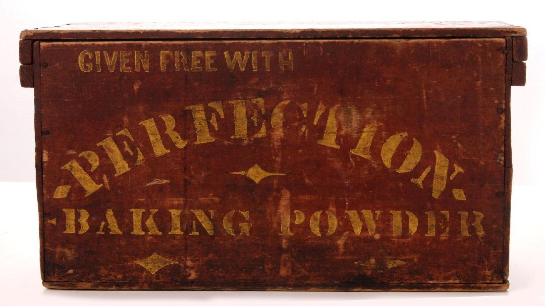 A PERFECTION BAKING POWDER MERCHANT'S CRATE - 5