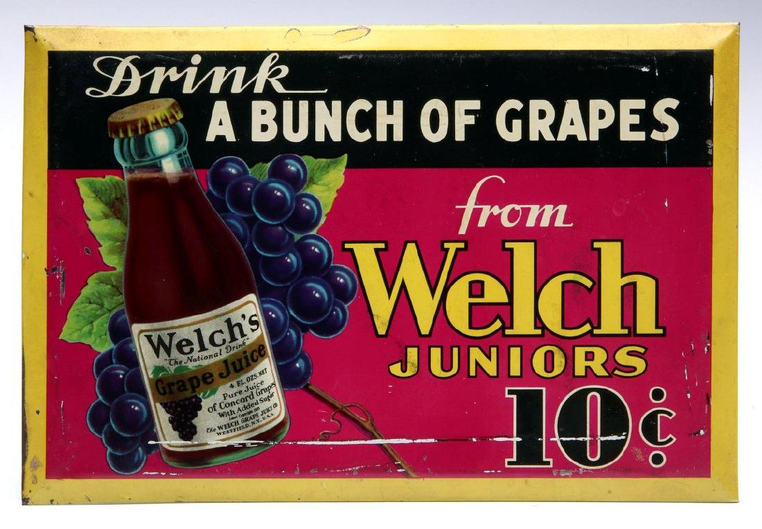 DRINK A BUNCH OF GRAPES - WELCH JUNIORS 10 CENTS