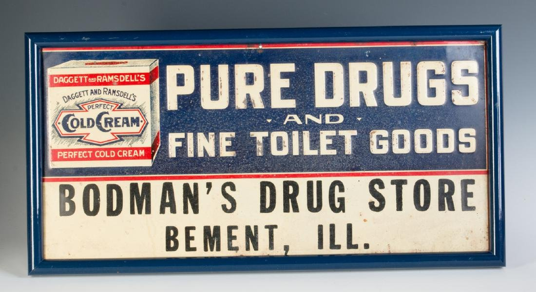 AN EARLY 20TH CENTURY COLD CREAM ADVERTISING SIGN - 2