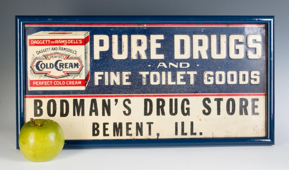 AN EARLY 20TH CENTURY COLD CREAM ADVERTISING SIGN - 3