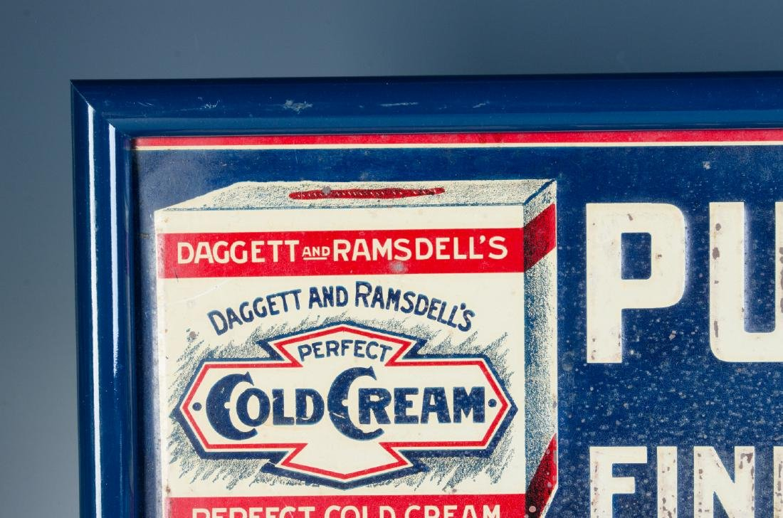 AN EARLY 20TH CENTURY COLD CREAM ADVERTISING SIGN - 4