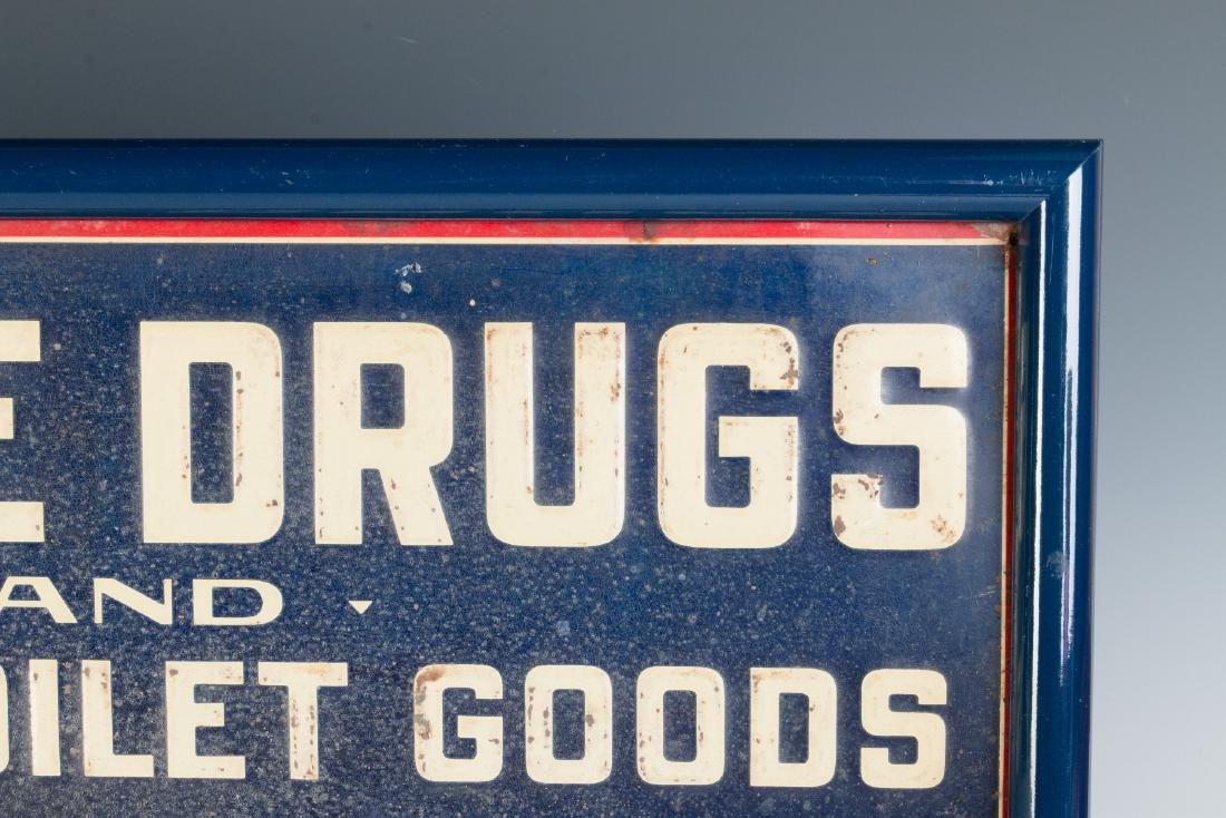AN EARLY 20TH CENTURY COLD CREAM ADVERTISING SIGN - 5
