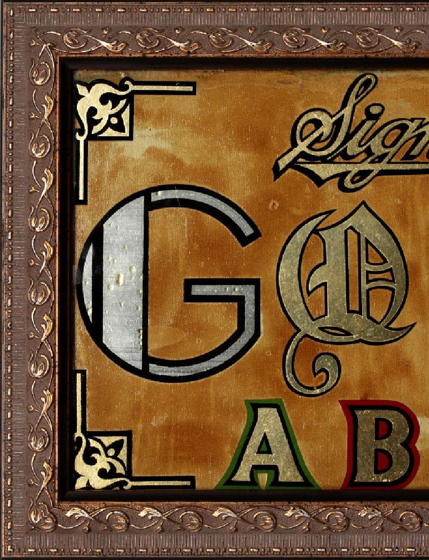 TWO REVERSE PAINTED SIGN PAINTERS SAMPLERS - 2