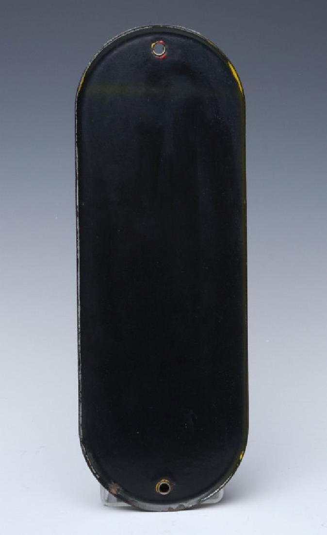 A CIRCA 1950 COCA-COLA PORCELAIN ENAMEL DOOR PUSH - 5