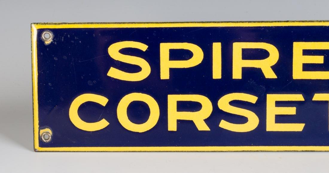 A PORCELAIN ENAMEL SIGN FOR SPIRELLA CORSETIERE - 3