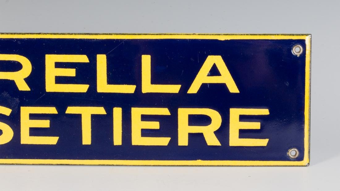 A PORCELAIN ENAMEL SIGN FOR SPIRELLA CORSETIERE - 4