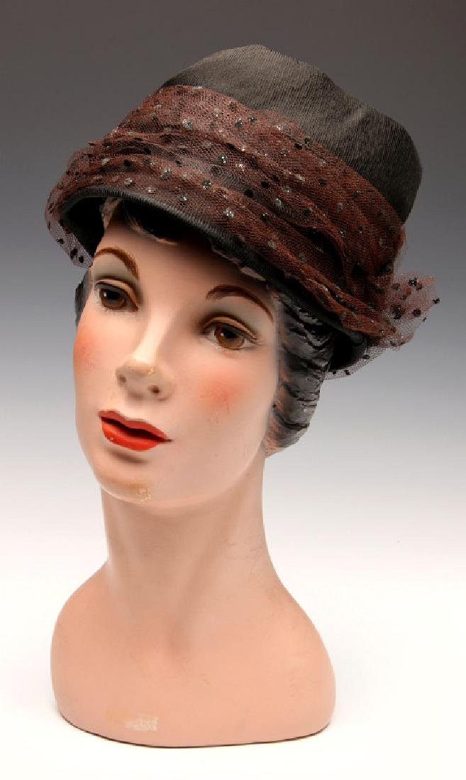 A DEPARTMENT STORE HAT DISPLAY MANNEQUIN C. 1940