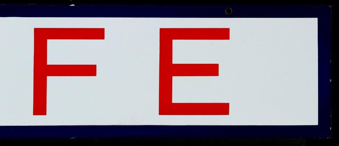 A RED, WHITE AND BLUE - CAFE - PORCELAIN SIGN - 4