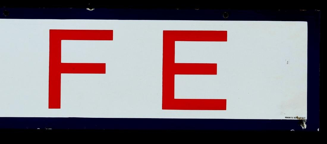 A RED, WHITE AND BLUE - CAFE - PORCELAIN SIGN - 7
