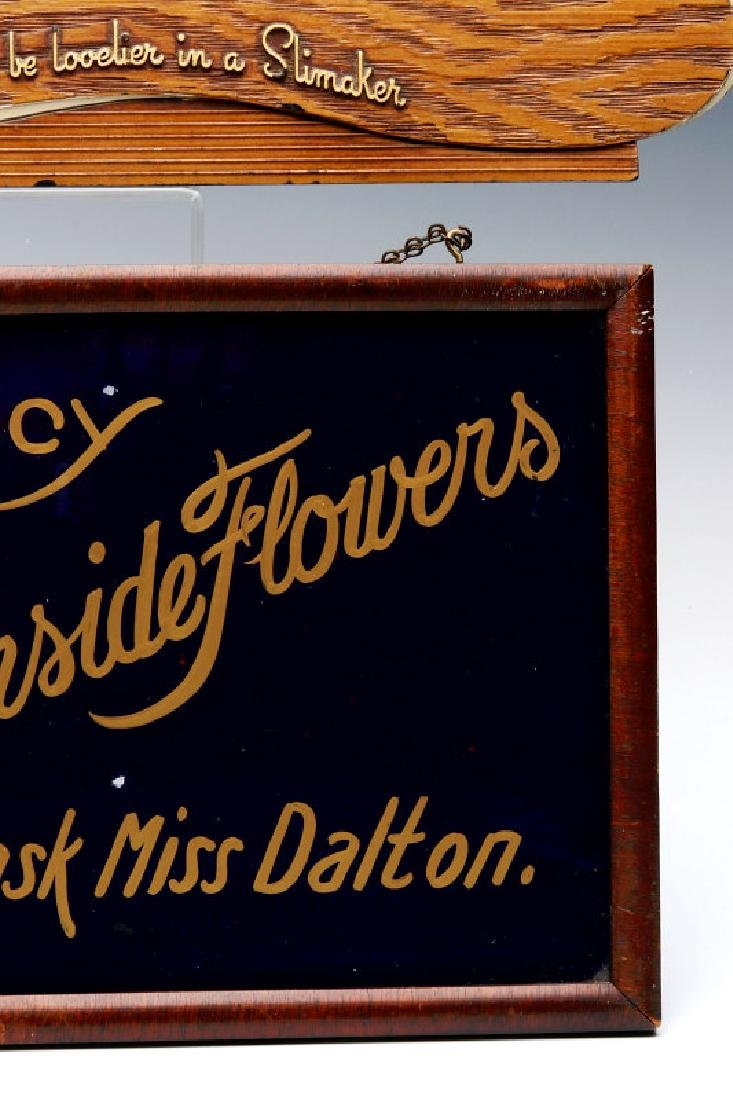 TWO SMALL 1930S ADVERTISING SIGNS - 6