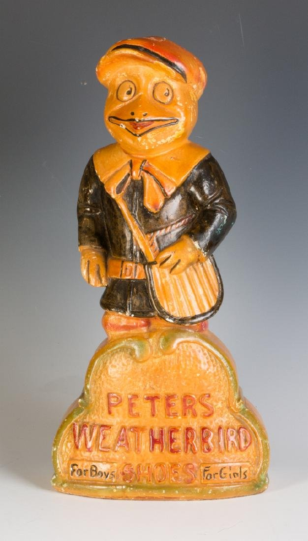 A PETER'S WEATHERBIRD SHOES ADVERTISING FIGURE