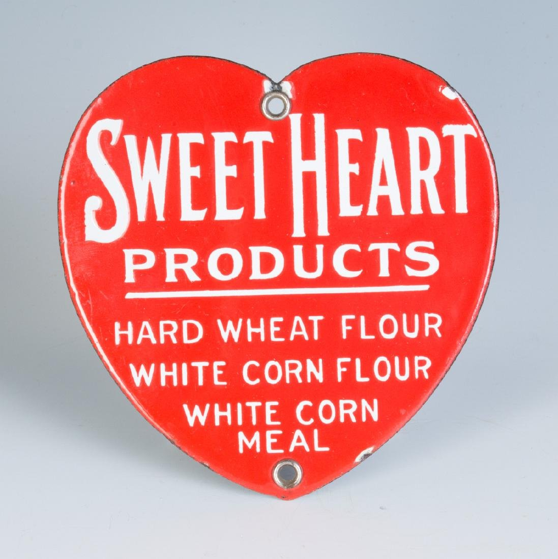 SWEET HEART PRODUCTS PORCELAIN HEART SHAPE SIGN