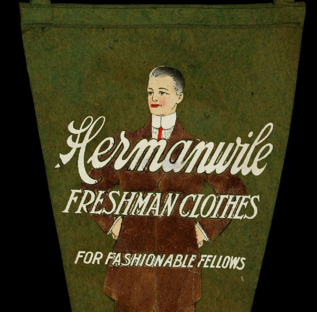 A 1910s HERMANWILE CLOTHING ADVERTISING PENNANT - 3