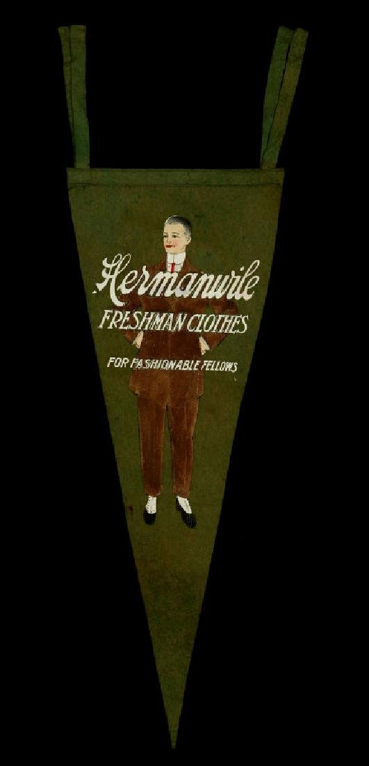 A 1910s HERMANWILE CLOTHING ADVERTISING PENNANT - 6
