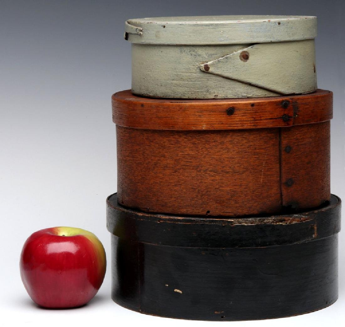 PAINTED LATE 19TH CENTURY BENTWOOD PANTRY BOXES