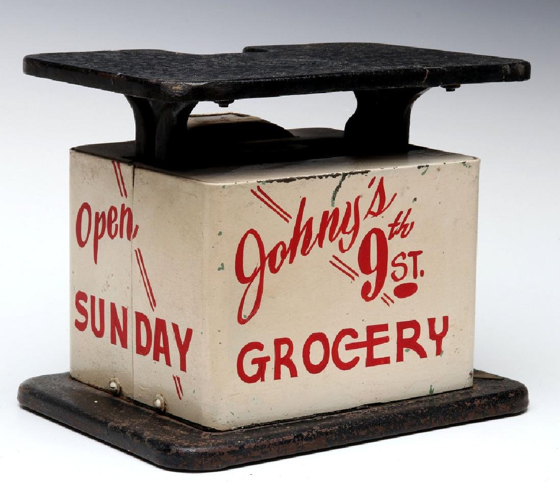 CIRCA 1940 MEAT SCALES - JOHNNY'S GROCERY, 9TH ST