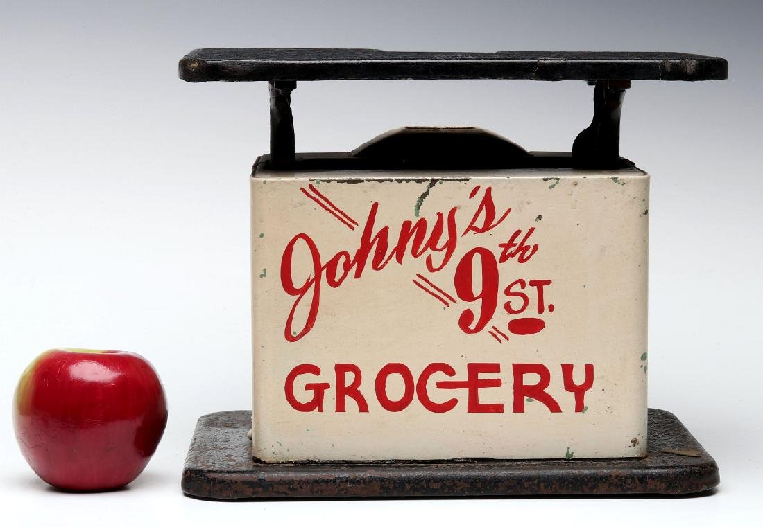 CIRCA 1940 MEAT SCALES - JOHNNY'S GROCERY, 9TH ST - 2